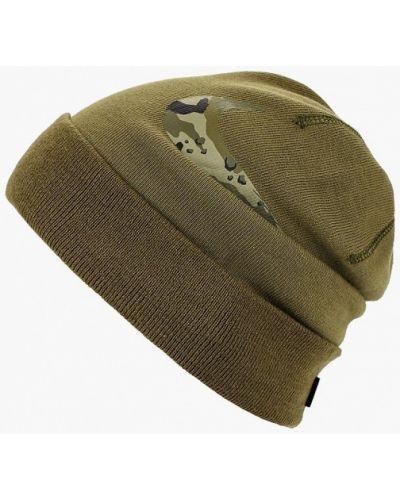 Зеленая шапка осенняя Nike