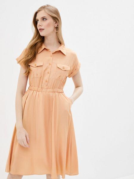 Платье платье-рубашка красный Imocean