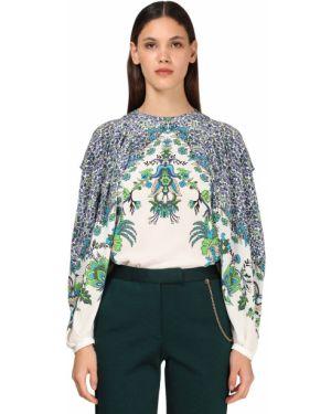 Koszula z jedwabiu z printem Givenchy
