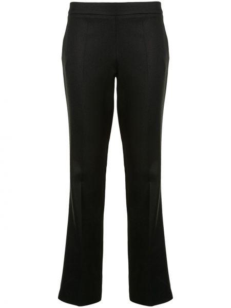 Хлопковые расклешенные черные брюки Giambattista Valli