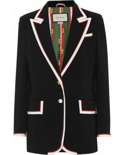 Пиджак черный из вискозы Gucci