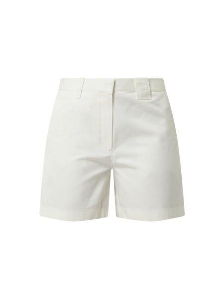 Białe szorty chinosy bawełniane Lacoste