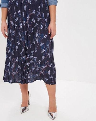 Плиссированная юбка синяя королевы Lost Ink Plus