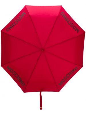 Parasol z printem - khaki Moschino