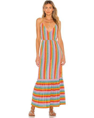 Синее платье на бретелях Sundress