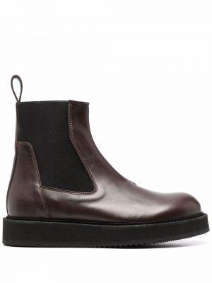 Кожаные ботинки челси - коричневые Semicouture