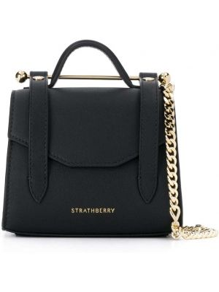 Czarna torba na ramię skórzana Strathberry