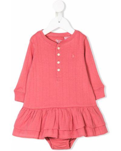 Платье с рукавами розовый длинное Ralph Lauren Kids