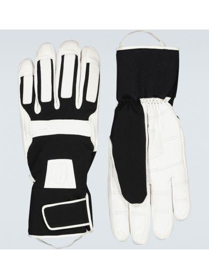 Ciepłe czarne rękawiczki skorzane Toni Sailer