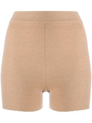 Шерстяные с завышенной талией шорты с поясом Cashmere In Love