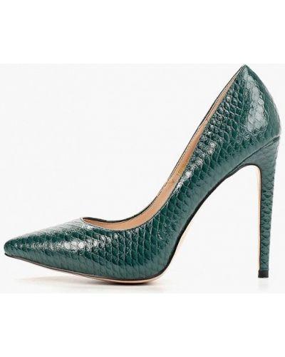 Кожаные туфли - зеленые Teetspace