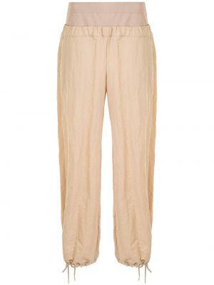 Шерстяные брюки - коричневые Dion Lee