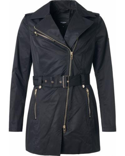 Czarna kurtka sportowa skórzana z długimi rękawami Rockandblue