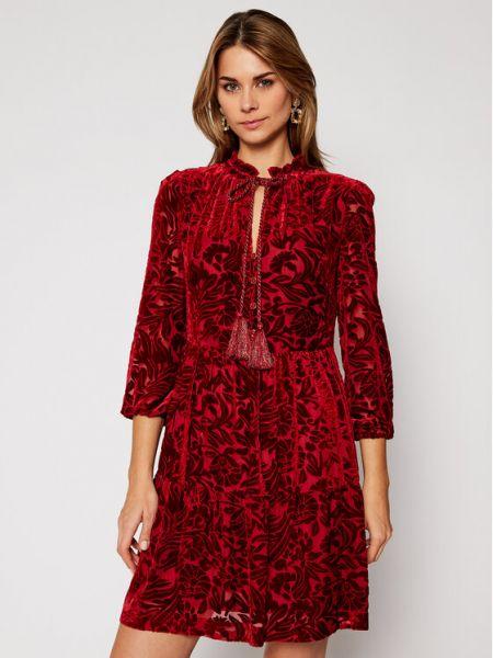 Czerwona sukienka casual Luisa Spagnoli