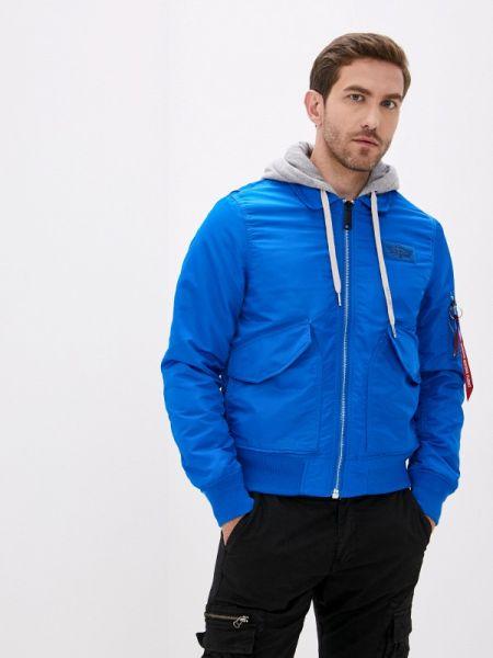 Теплая синяя утепленная куртка Angelo Bonetti