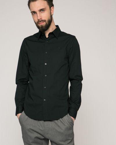 Черная рубашка однотонная G-star Raw