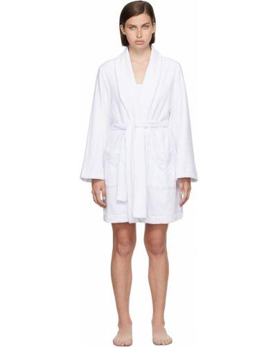Długi szlafrok bawełniany - biały Skims