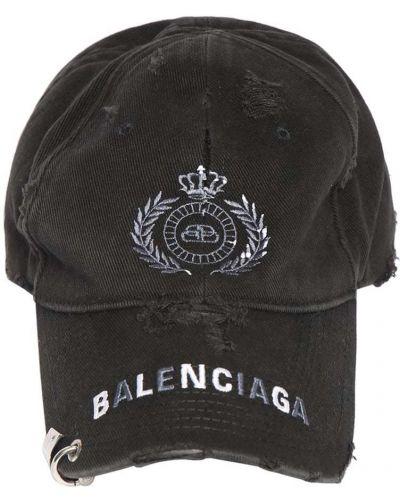 Czapka bawełniana - czarny Balenciaga