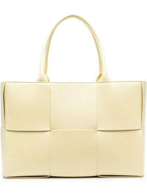 Желтая кожаная сумка-тоут Bottega Veneta