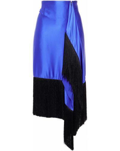 Niebieska spódnica midi z jedwabiu Marques Almeida