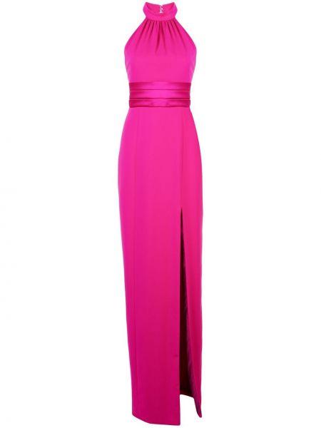 Фиолетовое приталенное вечернее платье на молнии без рукавов Jay Godfrey