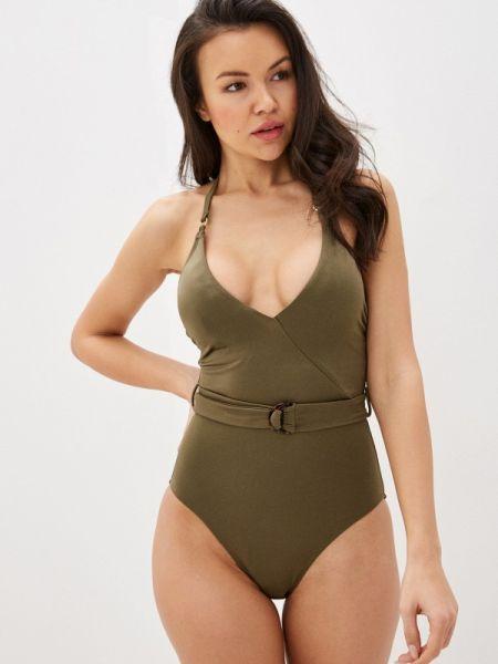 Спортивный купальник хаки зеленый Marks & Spencer