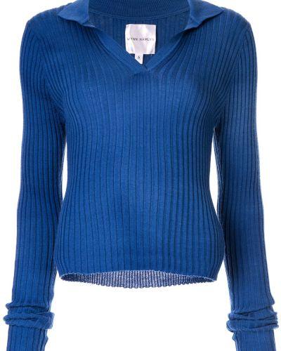 Классическая синяя классическая рубашка Wynn Hamlyn
