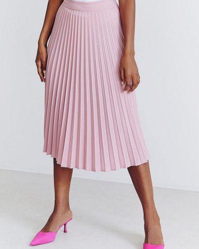 Плиссированная юбка - розовая Gepur