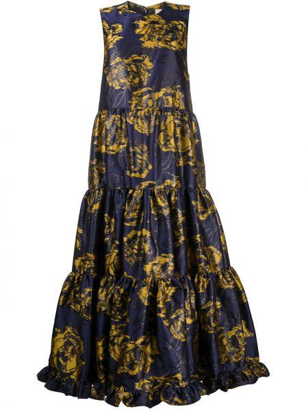 Платье без рукавов - синее Mulberry