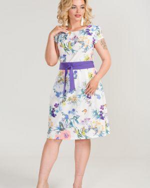 Летнее платье с поясом со складками марита