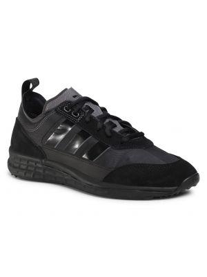 Miejski czarny zamsz buciki Adidas