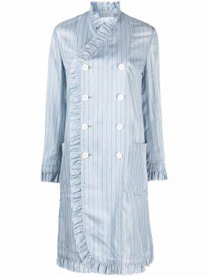 Синее пальто с воротником Comme Des Garçons Noir Kei Ninomiya