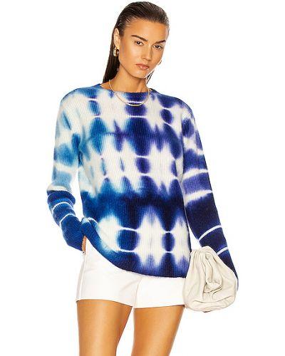 Синий кашемировый свитер The Elder Statesman