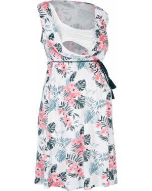 Платье для беременных с поясом Bonprix