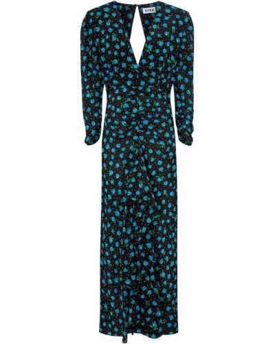 Niebieska sukienka midi z jedwabiu Rixo