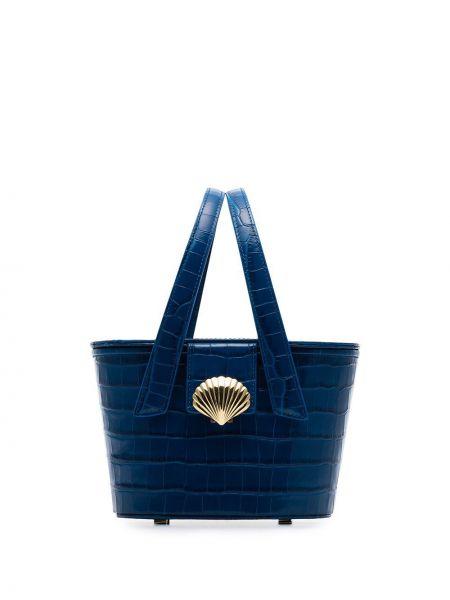 Niebieska torba na ramię skórzana vintage Rixo