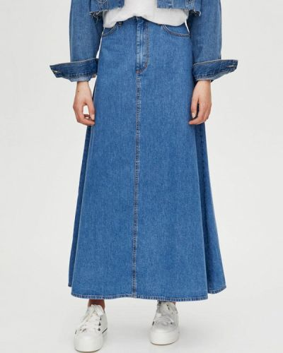 Джинсовая юбка - синяя Pull&bear