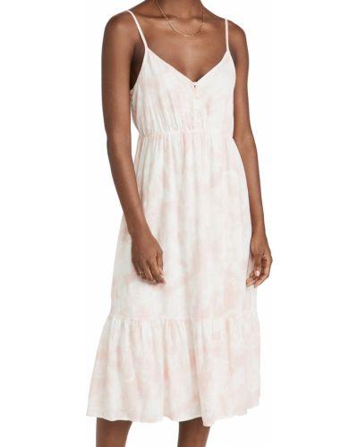 Льняное платье - розовое Rails