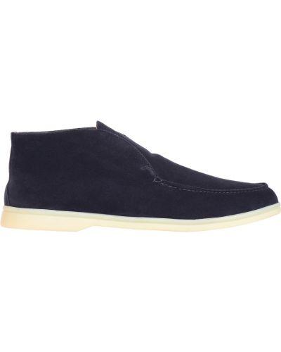 Кожаные ботинки осенние Loro Piana