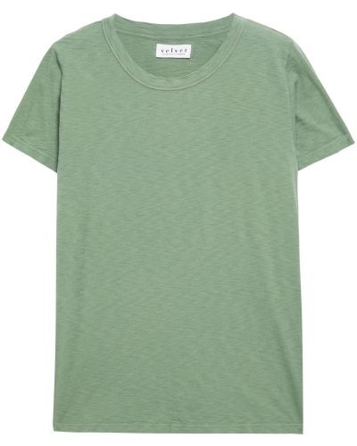 Zielona koszulka bawełniana Velvet By Graham & Spencer