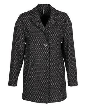 Czarny płaszcz przeciwdeszczowy Naf Naf