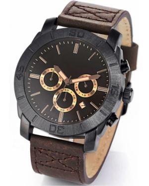 Часы с кожаным ремешком коричневый Bonprix