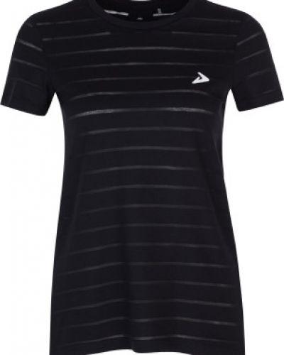 Прямая хлопковая черная футболка Demix