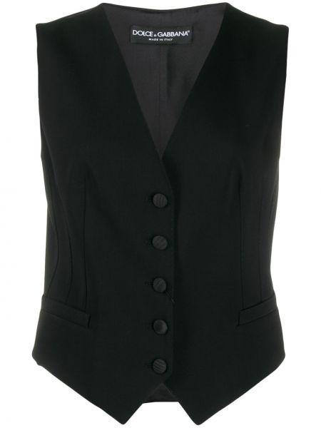 Жилетка с v-образным вырезом с карманами Dolce & Gabbana Underwear