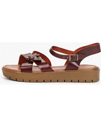 Красные кожаные сандалии Shoiberg