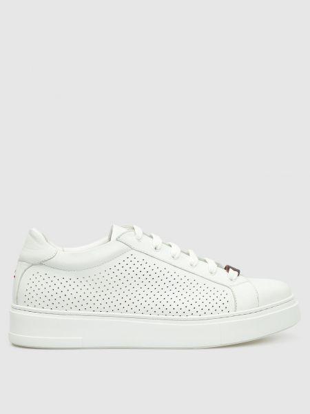 Кожаные кроссовки - белые Isaia