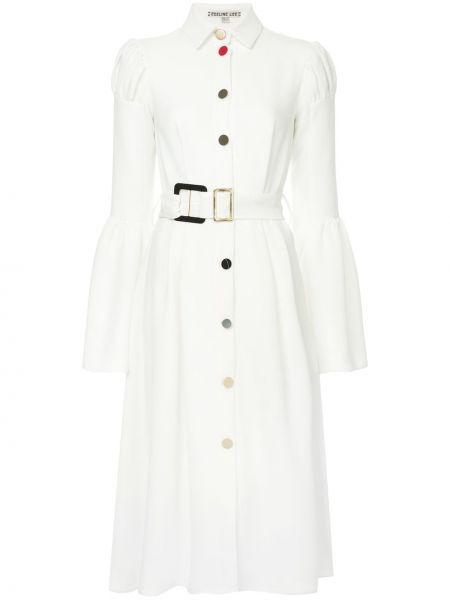 Белое платье из вискозы Edeline Lee