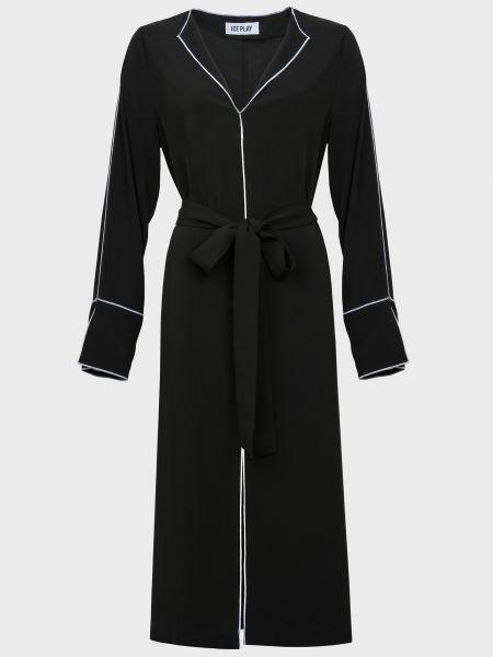 Платье с поясом - черное Ice Play