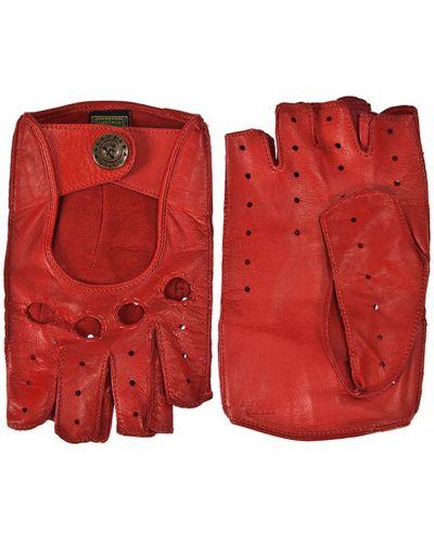 Кожаные перчатки красный Alpa Gloves