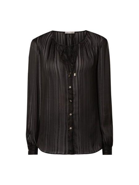 Czarna bluzka w paski z długimi rękawami Jake*s Collection